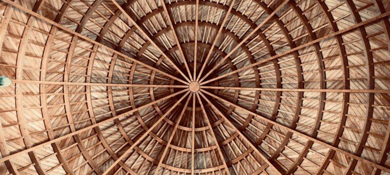 round brown wooden decor
